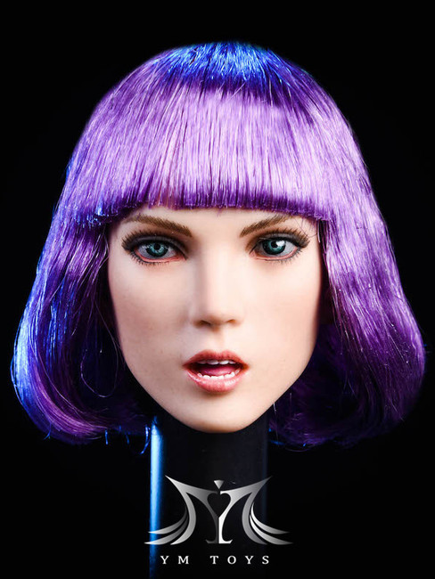 [YMT-025A] 1/6 Female Head with Purple Hair by YM Toys