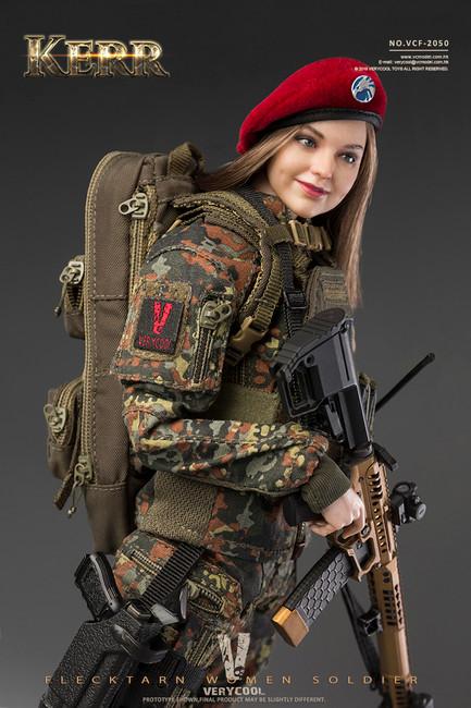 [VCF-2050] 1/6 Flecktarn Women Soldier KERR Figure by Very Cool