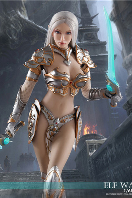 [KY-002B] 1/6 Silver Elf Female Soldier Burryna Normal Edition Figure by KY Workshop