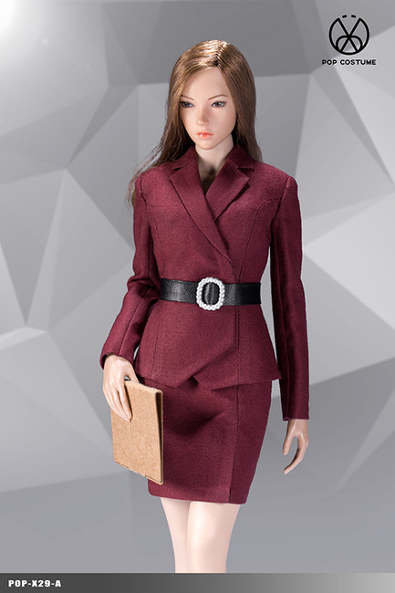 [POP-X29A] 1:6 Red Office Lady Suit Skirt Version by POP Toys