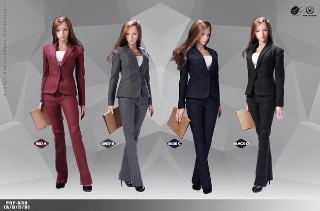 [POP-X30C] 1:6 Blue Office Lady Suit Pants Version by POP Toys