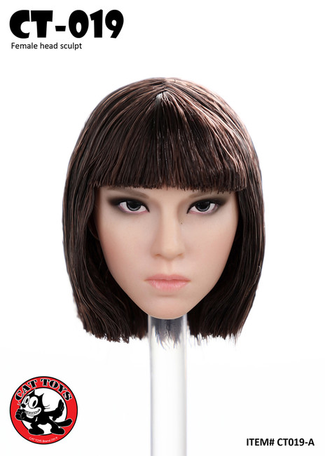 [CAT-019A] 1/6 Short Bang Female Head Sculpt by Cat Toys