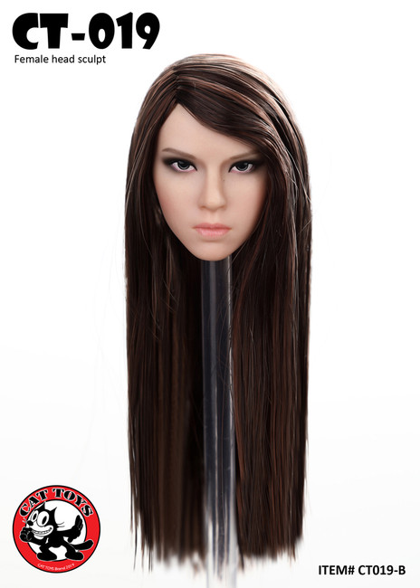 [CAT-019B] 1/6 Long Straight Female Head Sculpt by Cat Toys