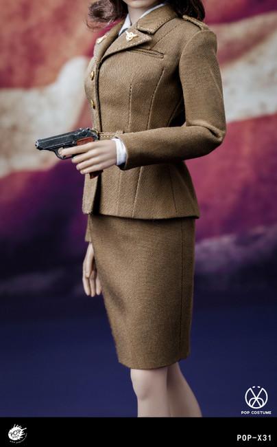 [POP-X31] 1:6 WWII US Army Female Agent Uniform by POP Toys