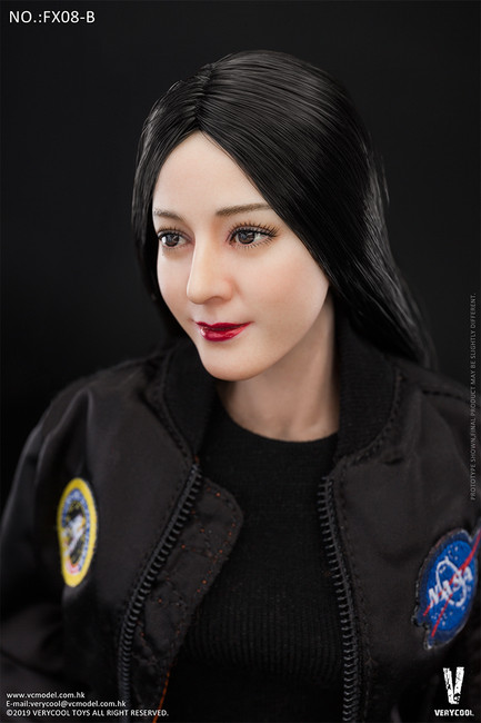 [VCF-FX08B] Asian Straight Hairstyle Head Sculpture + 3.0 Female Body Set by Very Cool