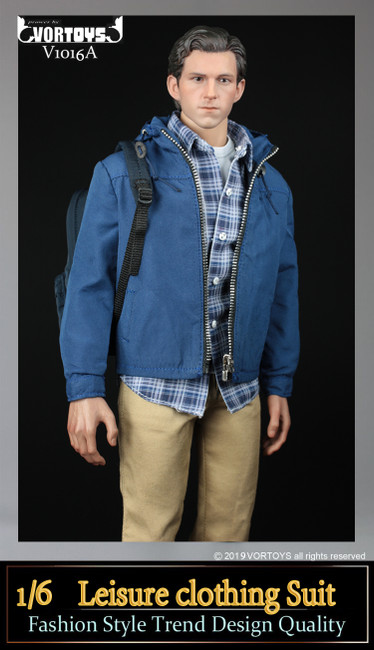 [VOR-1016A] 1/6 Parker Field Trip Outfit with Chino Pants by VORTOYS