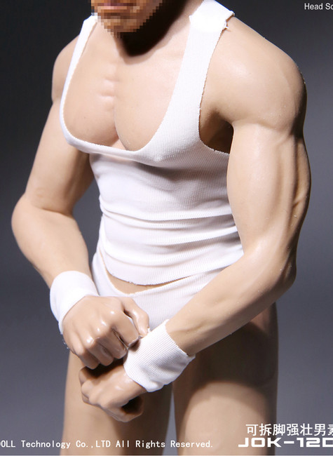 [JOK-12D-YS] Strong Male Body Pale Skin with Detachable Foot by Jiaou Doll