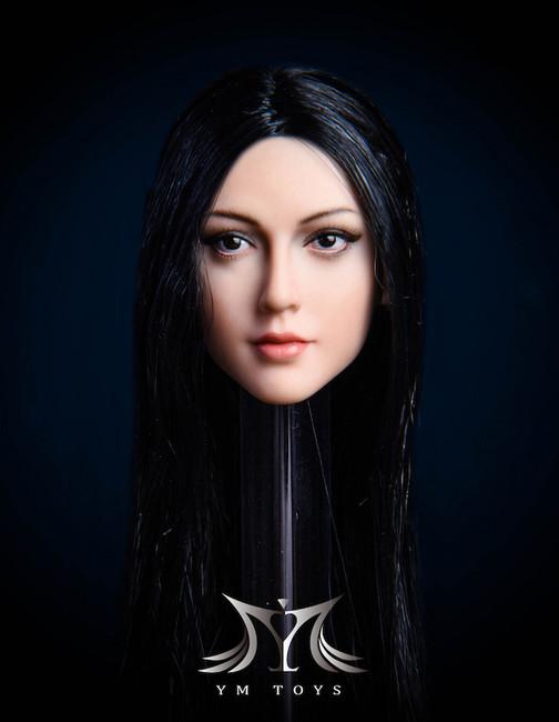 [YMT-026A] 1/6 Anna Black Eyes and Black Hair Head by YM Toys