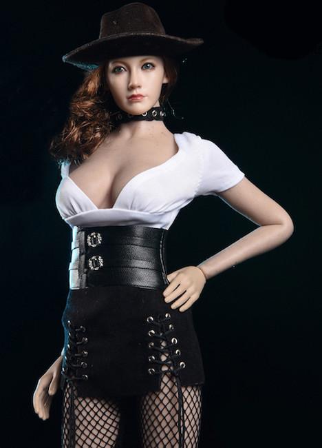 [VST-18XG51B] 1/6 White Top & Caribbean Style Mini Skirt for TBLeague by VS Toys