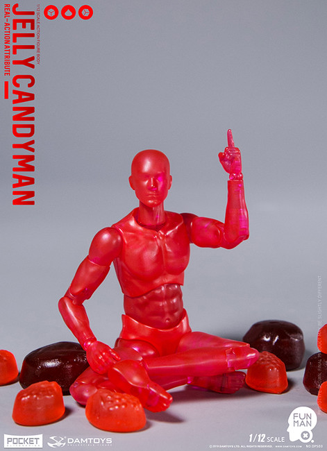 [DAM-DPS03] 1/12 Funman Jelly Candyman Action Figure by Dam Toys