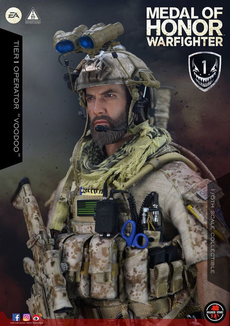 """[SS-106] 1/6 Medal Of Honor Navy SEAL Tier One Operator """"Voodoo"""" by Soldier Story"""