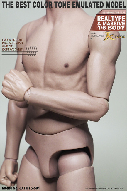 [JXT-S01] 1/6 Male Asian Muscular Figure Body by JXtoys