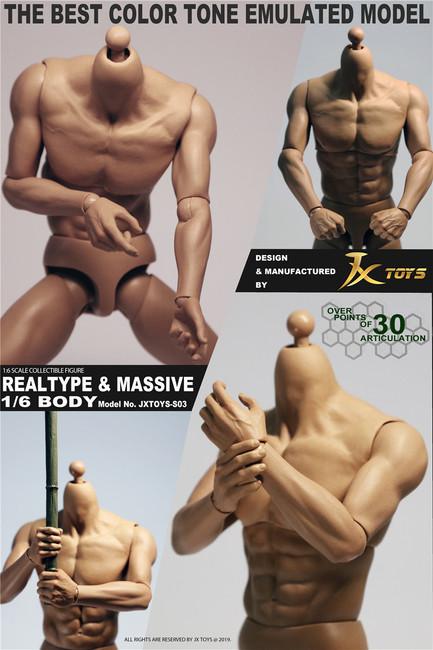 [JXT-S03] 1/6 Male Muscular Figure Best Color Tone Body by JXtoys