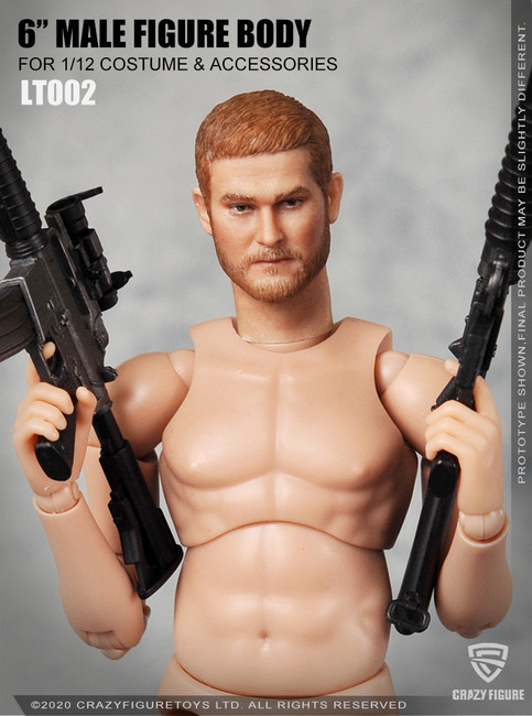 [CF-LT002] 1/12 Multi Joint Movable Male Body Without Neck by CrazyFigure