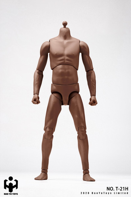 [HY-T21H] 1:6 African American 2.0 Super Sportsman's Body by HY Toys