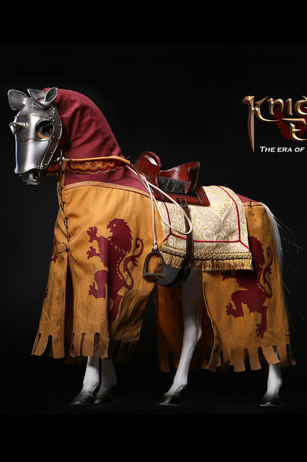 [POP-ALS006] The Era of Europa War Silver Knight Armor Horse by POP Toys