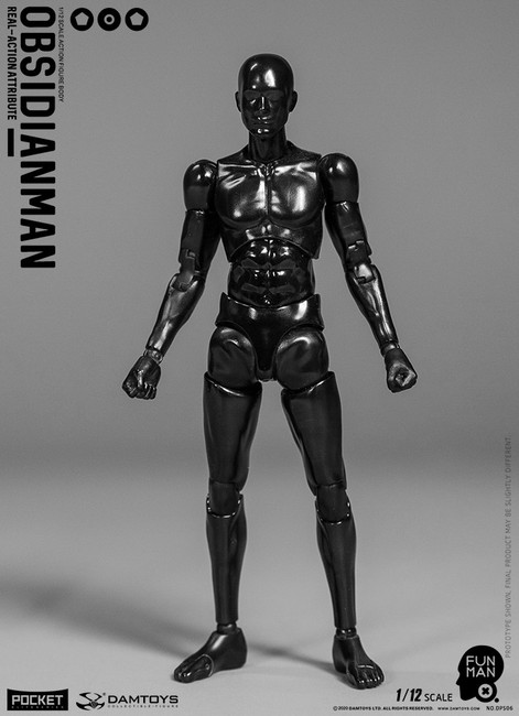 [DAM-DPS06] Dam Toys 1/12 Funman OBSIDIANMAN Action Figure
