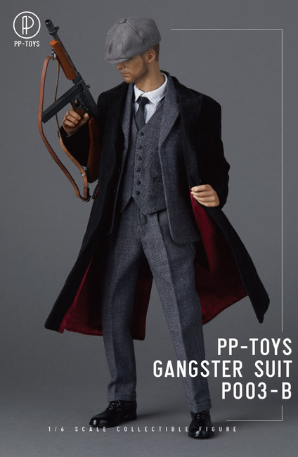 [PPT-P003B] 1/6 WWII British Retro Dark Grey Suit by PP toys