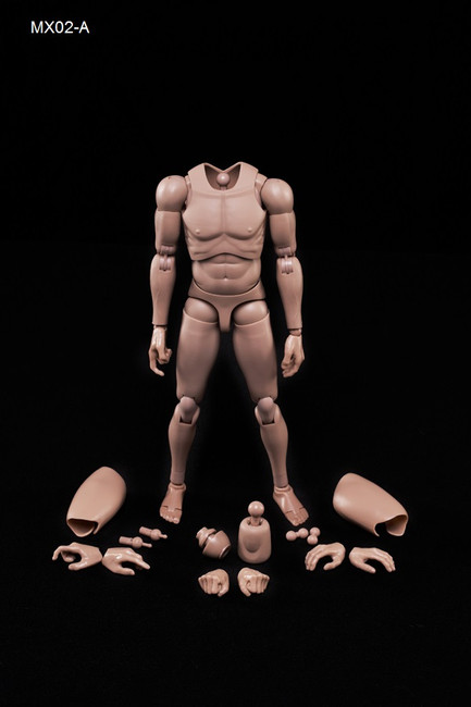 [MX02-A] Caucasian Skin Tone (Matte) Male Body