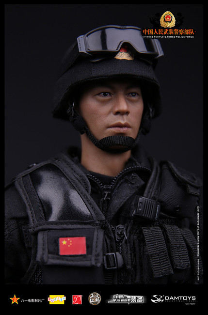 [DAM-78017] DAMTOYS Chinese People's Armed Police Force Anti-Terrorism Force Boxed Figure