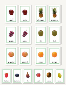 Picture Card Matching- Fruits - sku LAP.20 - 1