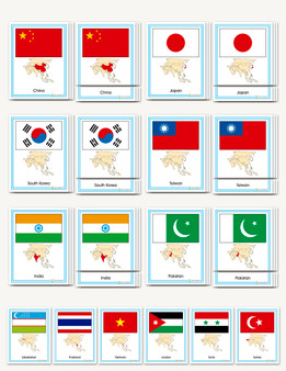 Flags of Asia - sku GP.40 - 1
