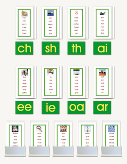 Phonogram Word Lists for Nienhuis Double Sandpaper Letters - sku LAP.06GN - 1