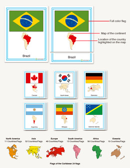 Flags of the World Complete Set - sku GP.70 - 1