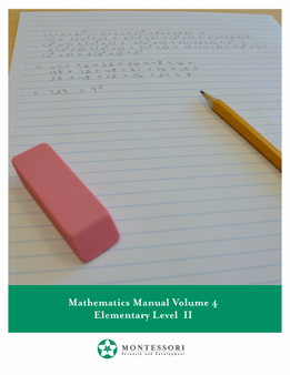 Mathematics Volume 4 - sku ME.M4 - 1