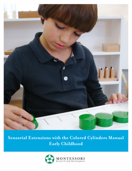 Sensorial Extensions for the Colored Cylinders Manual - sku MP.SE - 1
