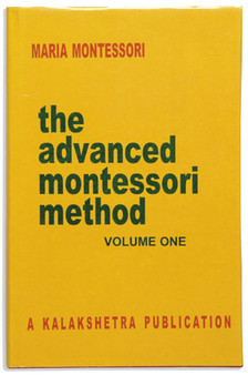 The Advanced Montessori Method: Volume 1 - sku BK.29 - 1
