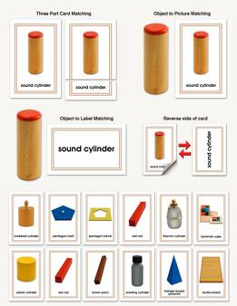 Sensorial Materials Three-Part Cards - sku LAP.70 - 1