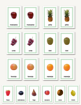 Frutas Completa a Completa - Matching cards for fruits (whole to whole) - sku LAP.20S - 1