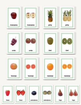 Frutas Completa a Mitad - Matching cards for fruits (whole to half) - sku LAP.19S - 1