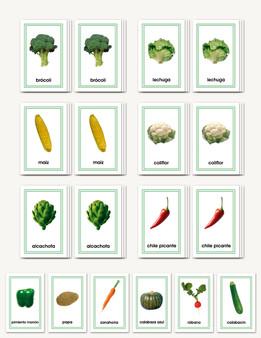 Vegetales - Matching Cards - sku LAP.21S - 1