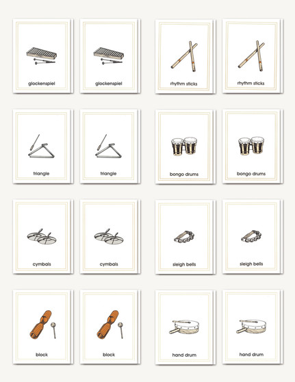 Picture Card Matching- Rhythm Instruments - sku LAP.40 - 1