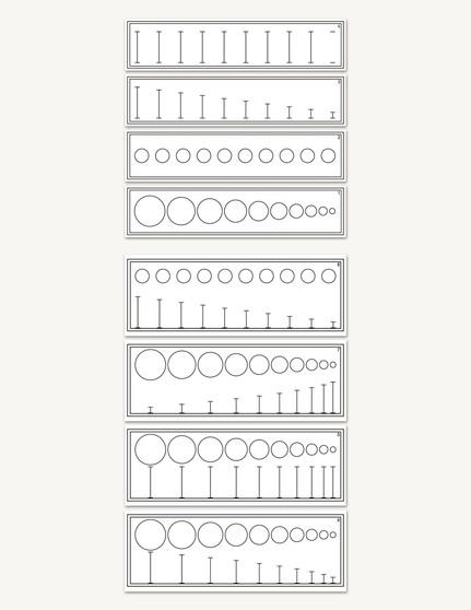 Diameter & Height Matching Cards - sku SP.10 - 1