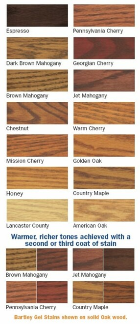 BARTLEY GEL STAIN 1/2 PINT