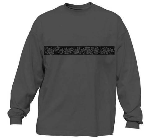 Vintage Hibiscus Long Sleeve T-Shirt
