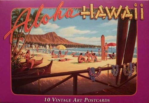 Vintage Art Hawaii Postcards - Waikiki