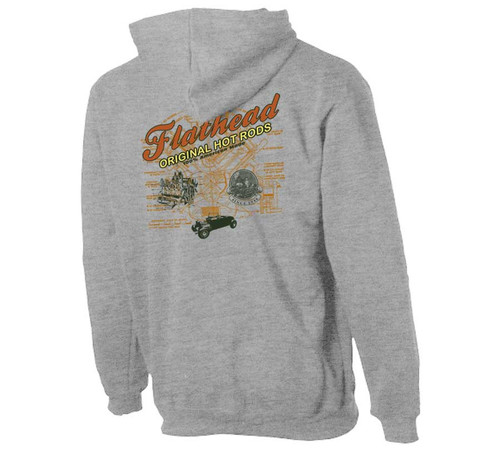 Flathead Hot Rods Zippered Hoodie