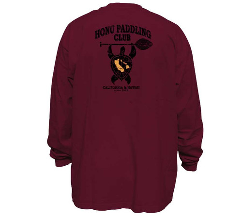 Honu Paddle Club   Long Sleeve Shirt for Men   Tall Fit