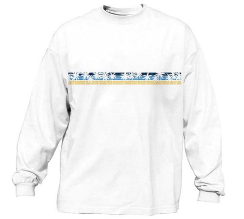 Palm Stripe Heavy T-Shirt   Classic Fit   Long Sleeve
