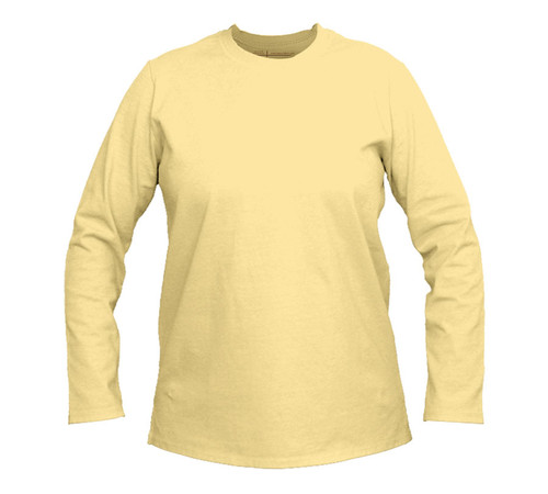 Premium Cotton T-Shirt   Women   Long Sleeve