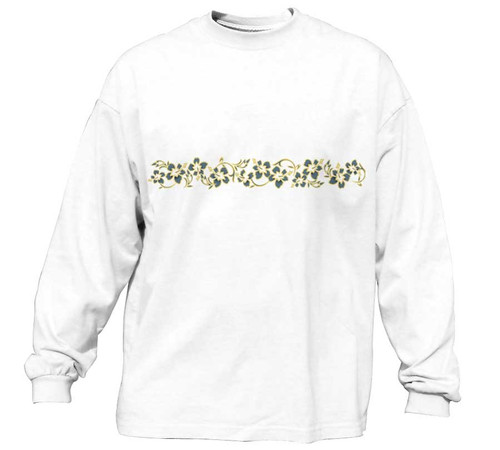 Tonal Hibiscus Vintage Long Sleeve Tee | Classic Fit