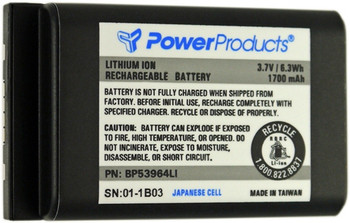 BATTERY FOR MOTOROLA DTR550 - 3.6V / 1880 mAh / 6.8 Wh / Li-Ion