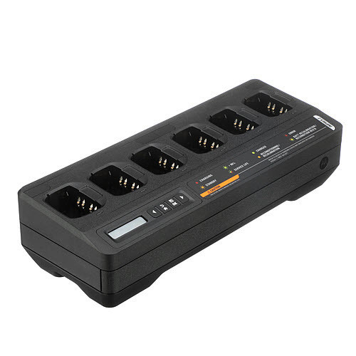 PMPN4284A PMPN4284 - Motorola IMPRES2 Multi-Unit Charger, Single Display -- For use with MotoTRBO and APX4000 Series Portables.