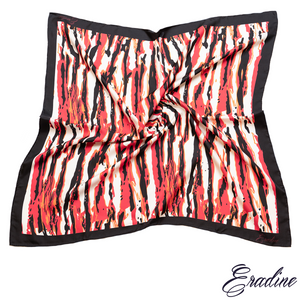 Eradine Square Silk Scarf in Fire