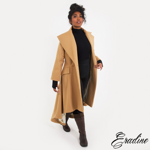 Ascot Camel Coat, Double Breasted with Silk Lining
