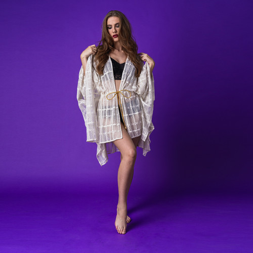 Naiad Lace Kaftan in Cream